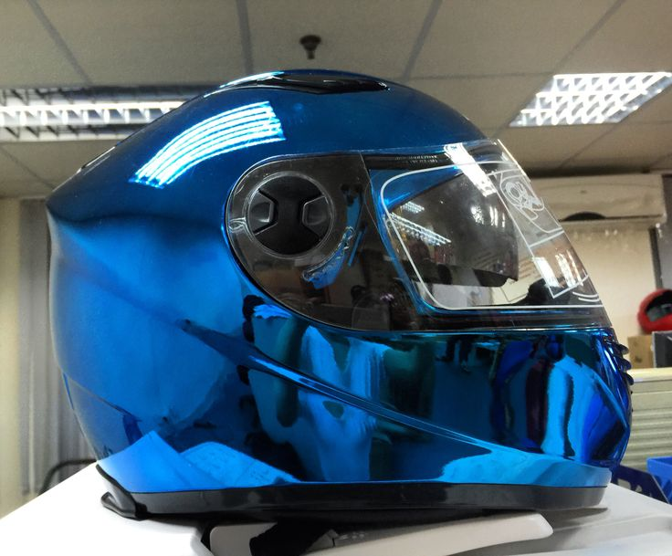 Masei 830 Blue Chrome Motorcycle Bike Harley Arai OGK Yamaha Helmet ヘルメット - sales@maseihelmets.com