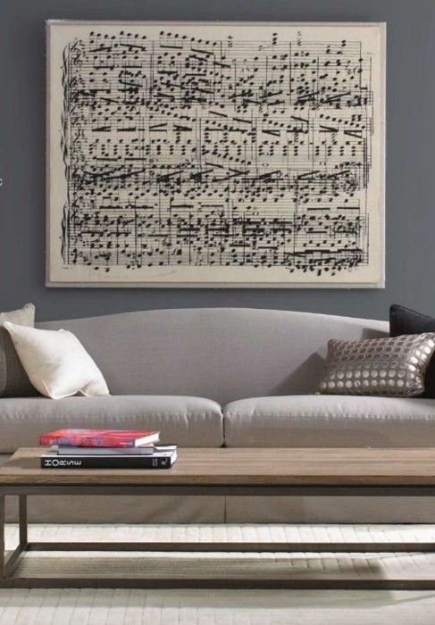 "Take your favorite song and create an oversized sheet music print! - print as an ""engineering print"" at staples"