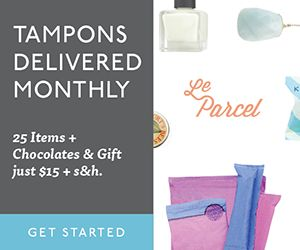Tampons delivered monthly. Le Parcel #subscriptionbox #forwomen #tamponsubscription #period #monthlybox #monthlyclub