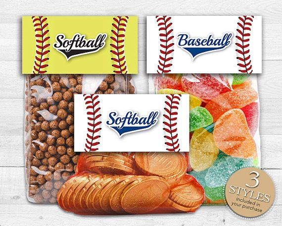 Instant Download, Printable Baseball Treat Bag Toppers, Softball Treat Bag Toppers & Fastpitch Softball Candy Toppers by Studio20Designs, $3.25 (3 designs included)