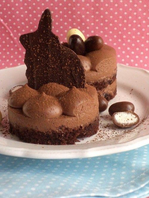 Csokoládémousse-os húsvéti tortácska recept