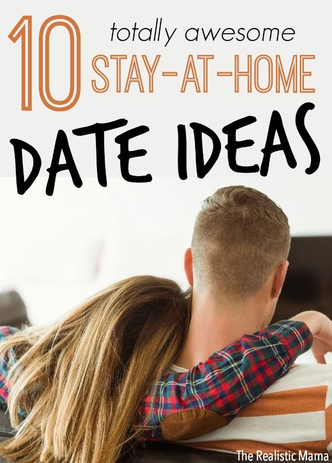 10 at home date ideas, perfect for after the kids go to bed or when you just don't feel like going out.