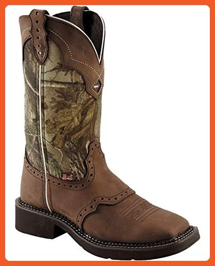 Justin Ladies Gypsy Square Toe 12in Camo Boot 8 - Boots for women (*Amazon Partner-Link)