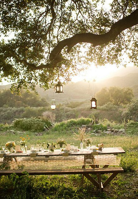 outdoor inspiration by the style files, via Flickr  perfect romantic summer scene.