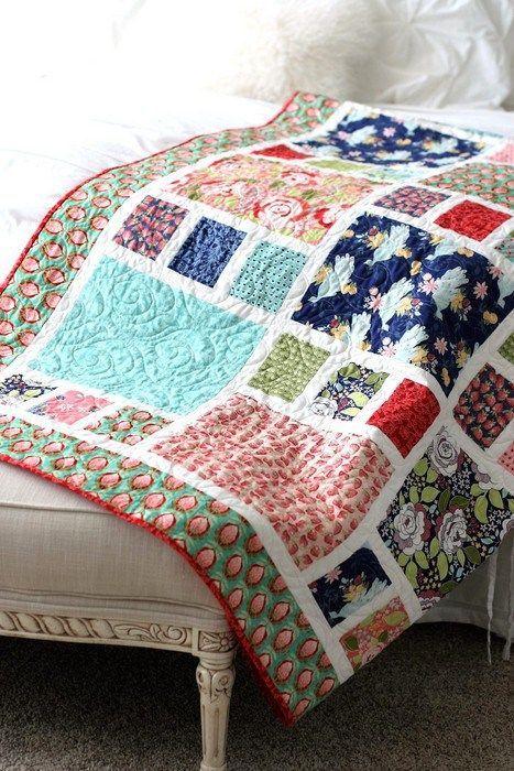 Craftsman quilt pattern - Fat Quarter friendly, Beginner Quilt