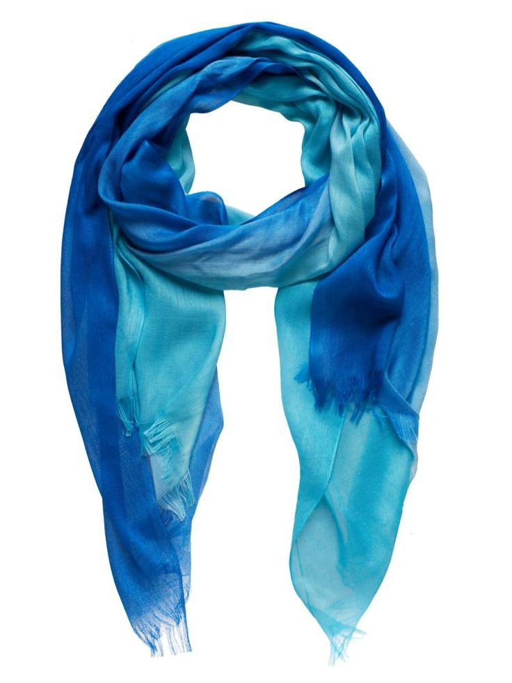 Spring/summer wardrobe update - Sussan Teal two tone scarf