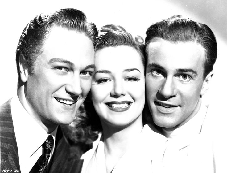 Richard Denning, Anne Shirley & Richard Carlson - WEST POINT WIDOW