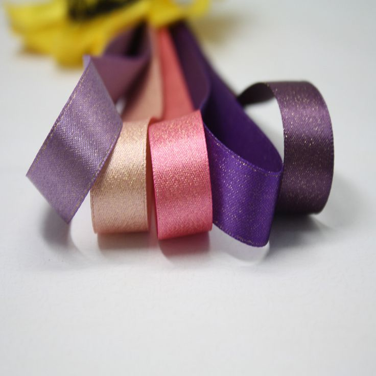 Ribbon Wholesale Dyed Gold Weft Ribbon Polyester Fabric Hand Accessories
