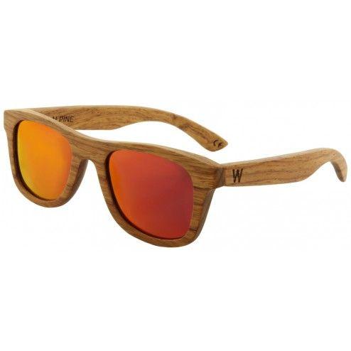 Pear Wood Sunglasses. Orange lens.  Woodzee.com