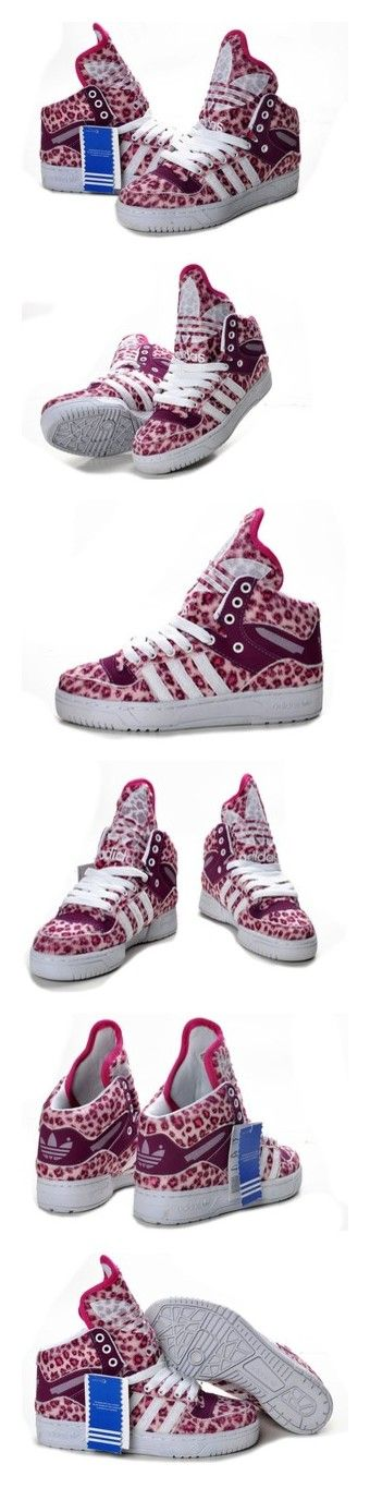 """Jeremy Scott Adidas JS Logo Attitude High Shoes 2012 d"" by licii-liz ❤ liked on Polyvore featuring shoes"