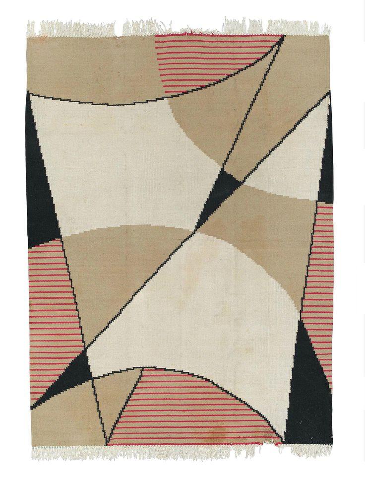 Modernist carpet Czechoslovakia circa 1930