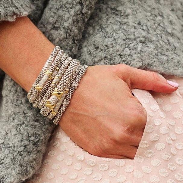@rebeccahillyard for @lagosjewelry | Diamond Lux Bracelets #loveLAGOS