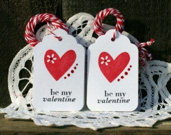 Etiquetas de regalo de San Valentín Set de 8 por designstudioL