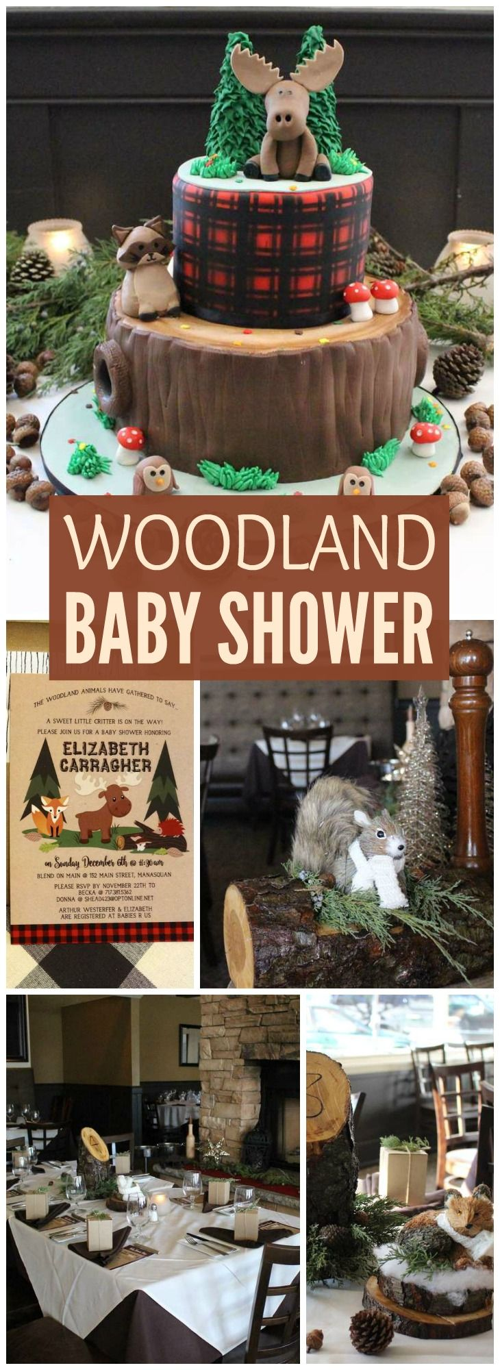 How gorgeous is this woodland critter baby shower? See more party ideas at CatchMyParty.com!