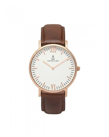 Kapten & Son Campina Brown Leather Damen Uhr braun