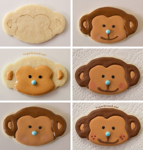 How To Make Monkey Cookies - sugarkissed.net