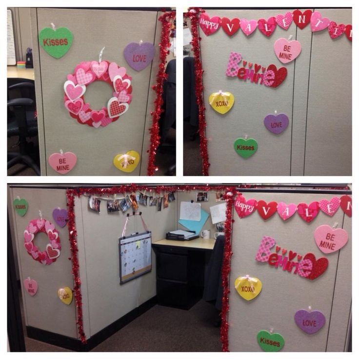 7 best valentine 39 s day office decor images on pinterest Cubicle bulletin board ideas