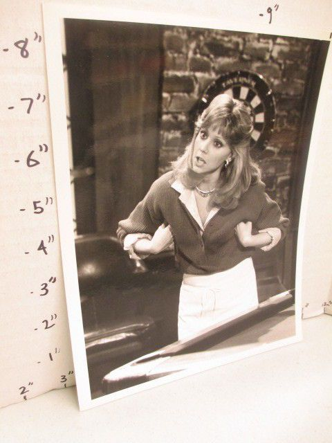 NBC CHEERS TV studio show promo photo 1980s SHELLEY LONG chicken arms