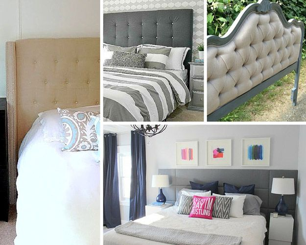DIY Tufted Headboard Bedroom Project for Women | Awesome Decorating Ideas On A Budget | http://diyready.com/diy-bedroom-projects-for-women/