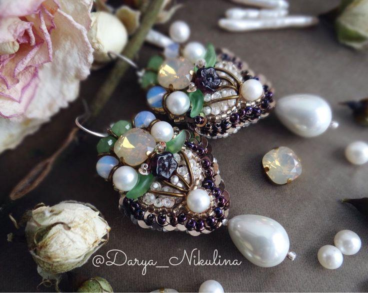 Купить Весенние серёжки - серьги, весна, весенняя мода, весенние цветы, весеннее…