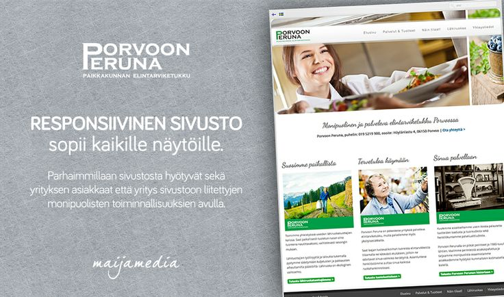 Responsive Business Website Design by Maijamedia.com. Check it out: http://www.porvoonperuna.fi
