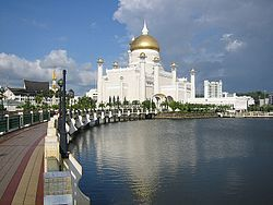 Sultan Omar Ali Saifuddien Mosque, Bandar Seri Begawan, Brunei - Considered as one of the most beautiful mosques in the Asia Pacific.