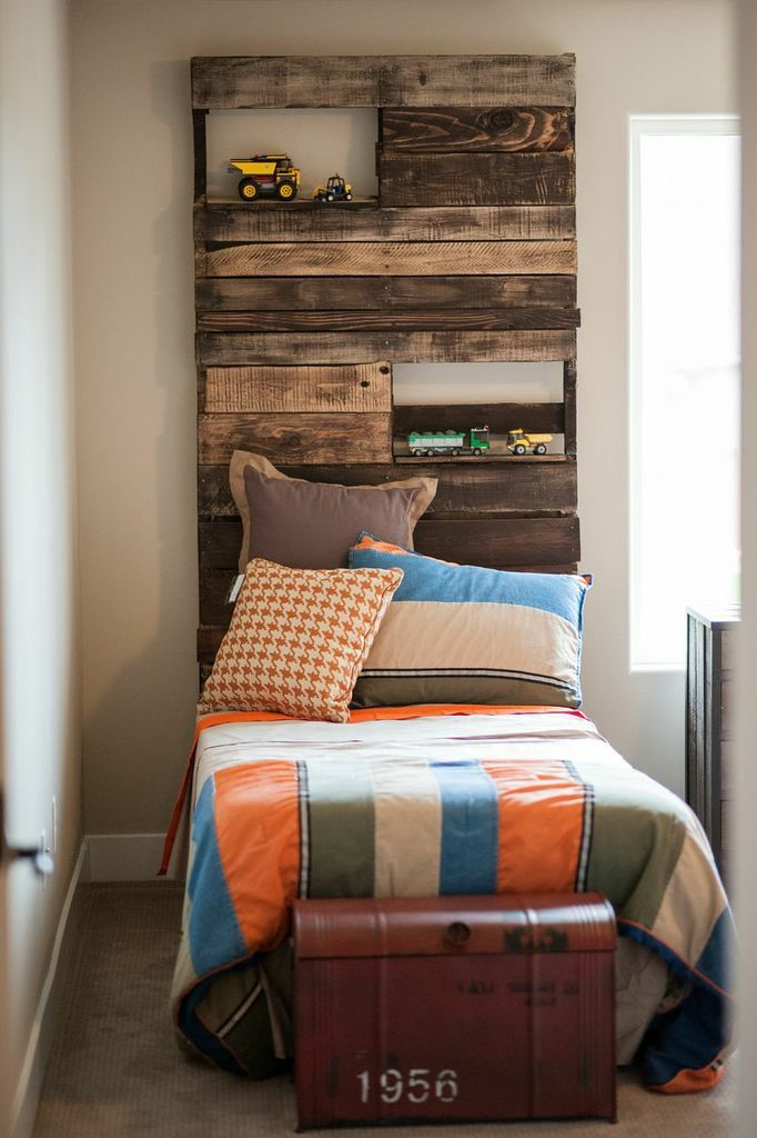 Pallet Headboards with shelves 18 best Pallet