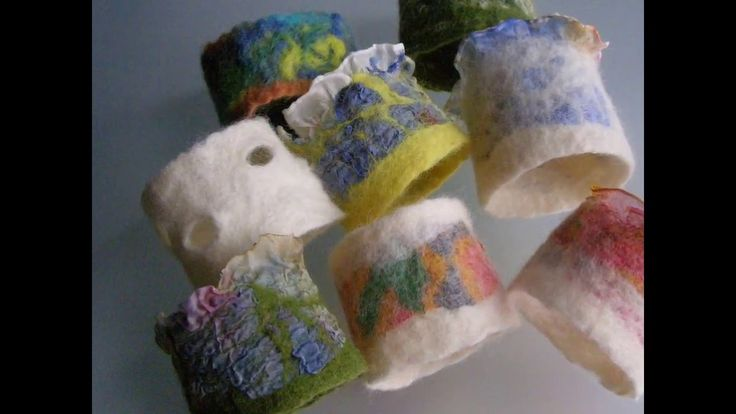 "my bracelets - felt "" painted"" using silk - handmade"