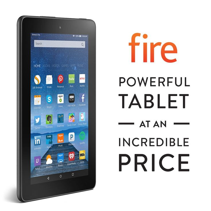 "Fire, 7"" Display, Wi-Fi, 8 GB - Includes Special Offers, Black:"