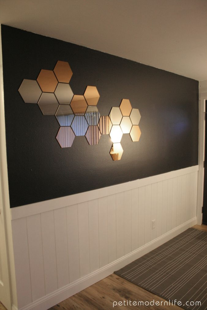 honeycomb mirrors entry ways entryway and modern. Black Bedroom Furniture Sets. Home Design Ideas