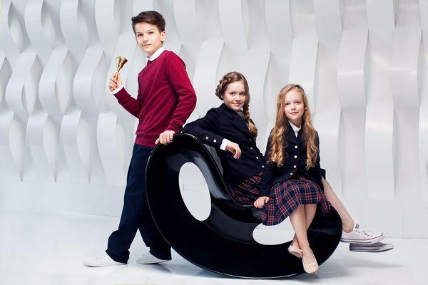 Школьная форма Choupette для мальчиков и девочек: пиджак на девочку, джемпер мальчику. Бордо, клетка. 1--11 класс