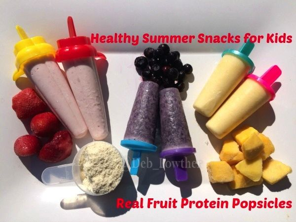 Healthy Summer Snacks for Kids - Real Fruit Protein Popsicles