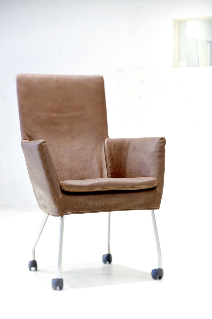 Label | Gerard van den Berg: Dining chair Donna Rock in Indian Buffel leather. Exclusively tanned for Label
