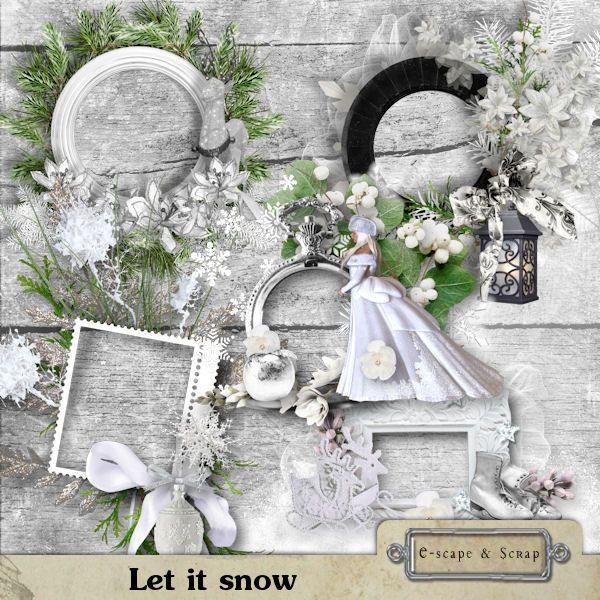 Let it snow - frames by Black Lady Designs