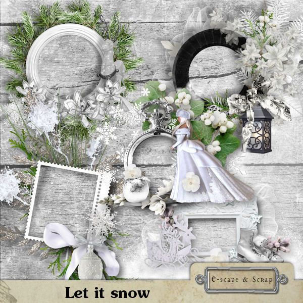 Let it snow - frames by Black Lady Designs