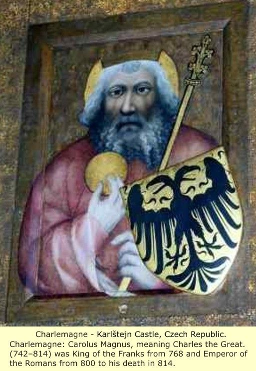 The face of Charlemagne, King of the Franks and Emperor of Rome
