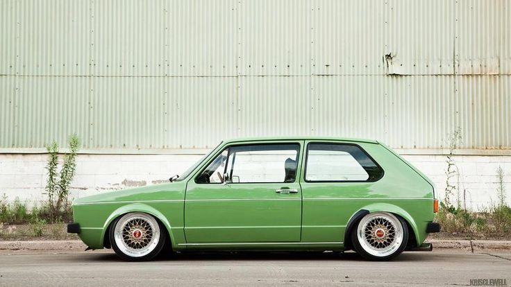 VW Mk1 (Rabbit) Golf - Love the color and stance. It's worth posting 100 times over. Lol