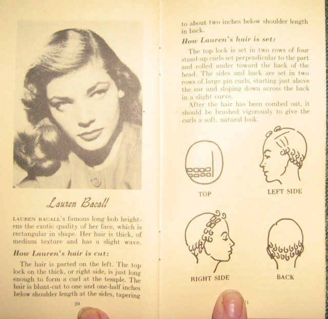 Victory Vintage: Pin Curl Sets and Lauren Bacall Hair ...