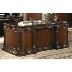 Traditional Home Office Executive Desk in Rich Brown Finish by Coaster - 800800 #coasterfurniturehome
