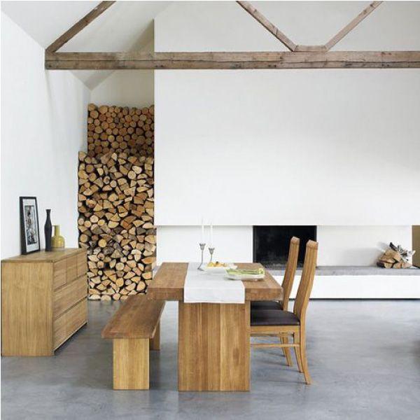 Come sistemare la legna per il camino in casa