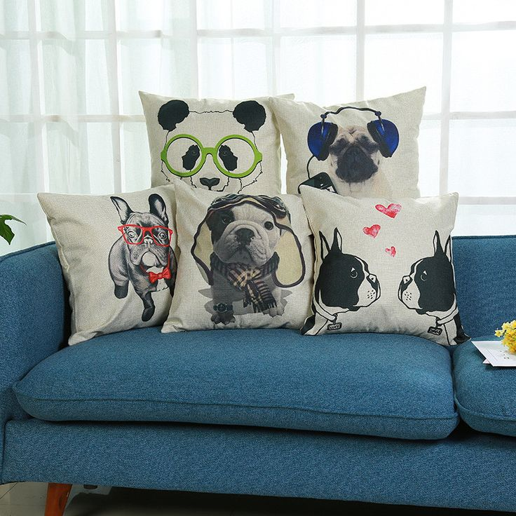 Find More Cushion Cover Information about Cute Bulldog Panda Printed European Style Cushion Cover Sofa Throw Pillowcase Car Seat Chair Decoration Bedroom Sofa Home Decor,High Quality cushion cover,China panda cushion cover Suppliers, Cheap european cushion cover from WK HomeTextiles Store on Aliexpress.com