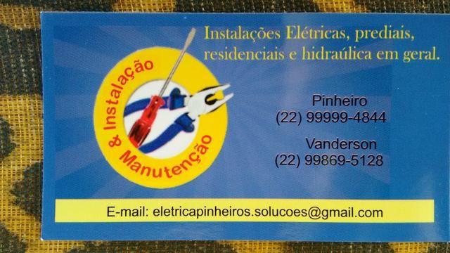Eletricista em Macaé RJ,aceito cartão de crédito (bandeira VISA e MASTERCARD) .
