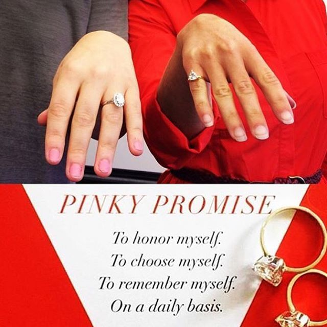 Our pinky ring is a promise of self love from you, for you.