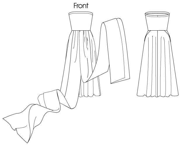 Line Art - McCall's Infinity dress (with tube top)