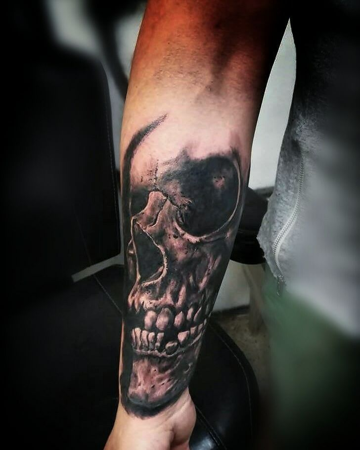 eaa0b8d44 Skull tattoo by George. Limited availability at Holy Grail Tattoo Studio