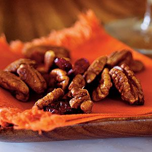 Thanksgiving Appetizers | Orange Chipotle-Spiced Pecan Mix | CookingLight.com
