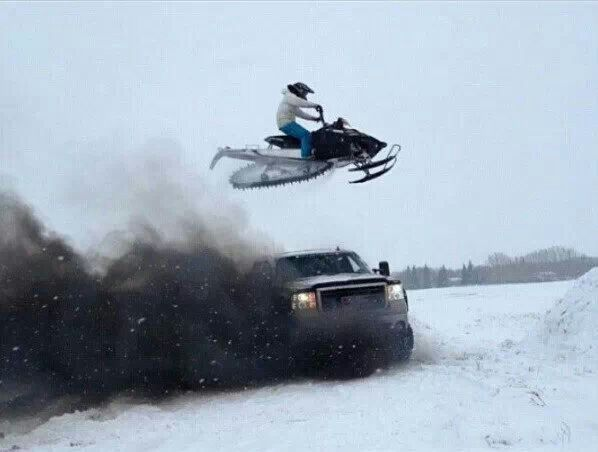 I don't like the truck but this is a Badass picture