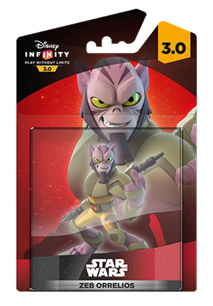 DISNEY Infinity 3.0 Zeb Orrelios figur DISNEY Infinity 3.0-figurRebellen Zeb Orrelios er både veluddanet og stærk. Han er veltrænet i kamp, elsker at smadre ting på sin vej og gå i kamp med sin riffel.Figuren fungerer sammen med DISNEY Infinity 3.0-toy box og alle STAR WARS-play sets.