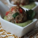 Southwest Meatballs with Creamy Cilantro Dipping Sauce | Recipe