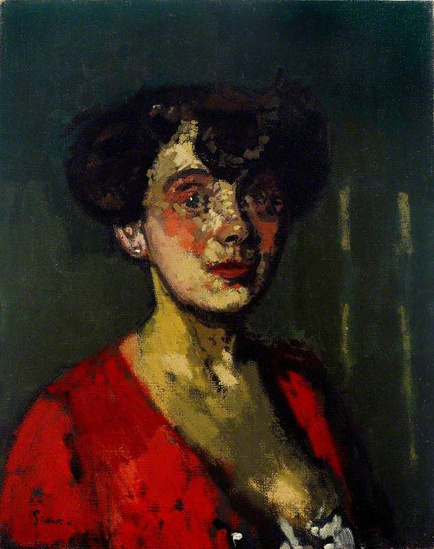 Walter Sickert - Head of a Woman (The Belgian Cocotte)